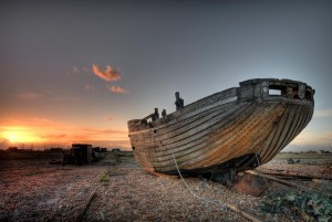 Dungeness Sunset Boat