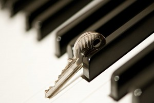 Depth of Field Piano Key