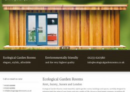 Ecological Garden Rooms Website Design