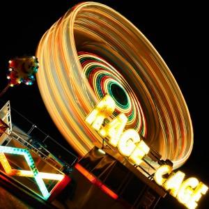 low light photography fairground ride