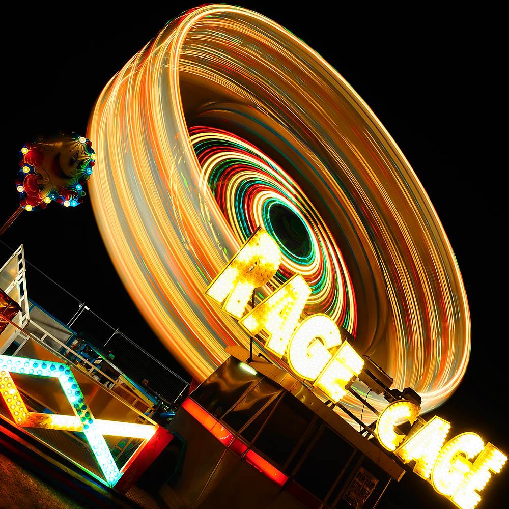 low exposure motion blur creative fairground ride