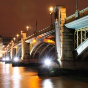 low light photography southwark bridge