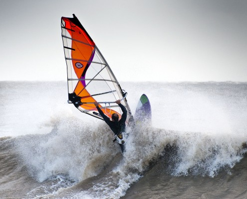 October Storm Windsurfers Windsurfing