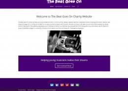The Beat Goes On Charity Website