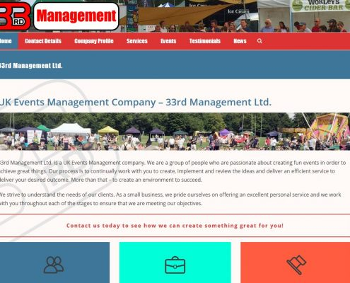 33rd Management Ltd Website Design