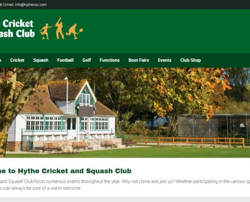 Hythe Cricket and Squash Club website